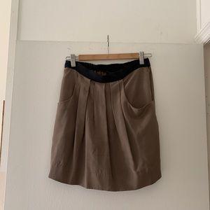 Brown Silk BCBG Skirt